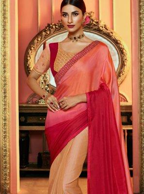Pink Art Silk Silk Saree