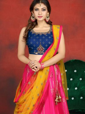 Pink Banarasi Silk Ceremonial Readymade Lehenga Choli