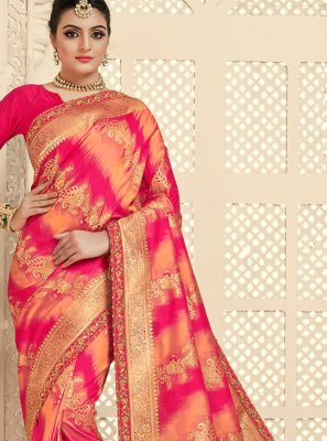 Pink Bridal Traditional Saree
