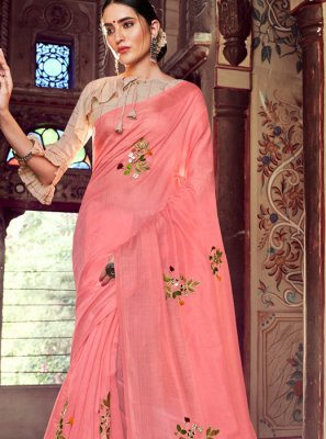 Pink Casual Casual Saree