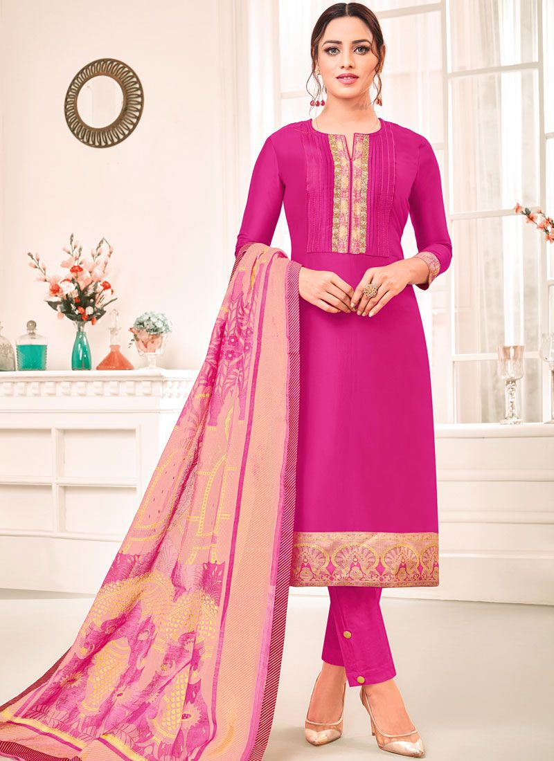 Pink Casual Pant Style Suit