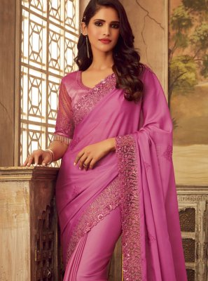 Pink Ceremonial Designer Saree