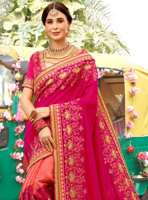 Pink Ceremonial Designer Traditional Saree