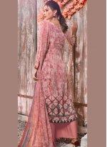 Pink Ceremonial Faux Crepe Designer Pakistani Suit