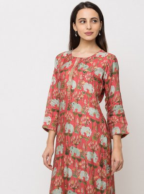Pink Ceremonial Party Wear Kurti