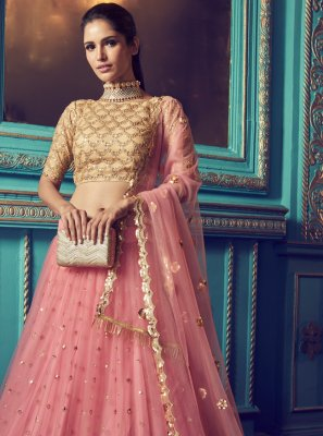 Pink Ceremonial Trendy Lehenga Choli