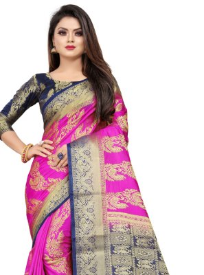 Pink Color Contemporary Saree