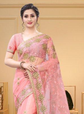 Pink Color Contemporary Saree