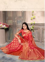Pink Color Designer Bollywood Saree