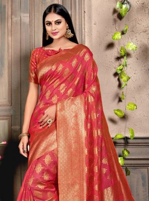 Pink Color Designer Bollywood Saree