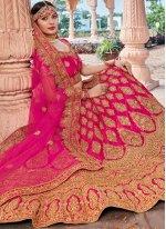 Pink Color Designer Lehenga Choli