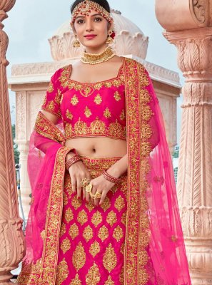 Pink Color Designer Lehenga Choli
