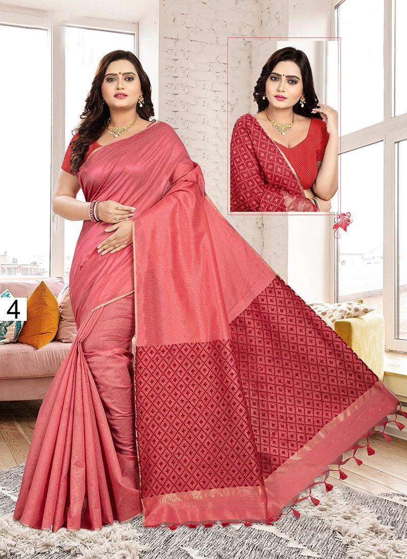 Pink Color Designer Traditional Saree