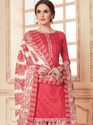 Pink Color Punjabi Suit