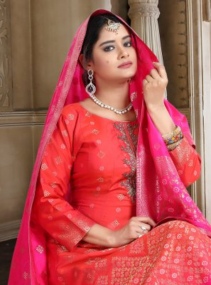 Pink Color Readymade Anarkali Salwar Suit