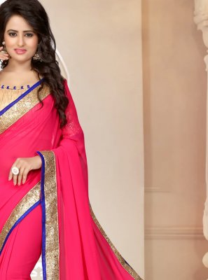 Pink Color Saree