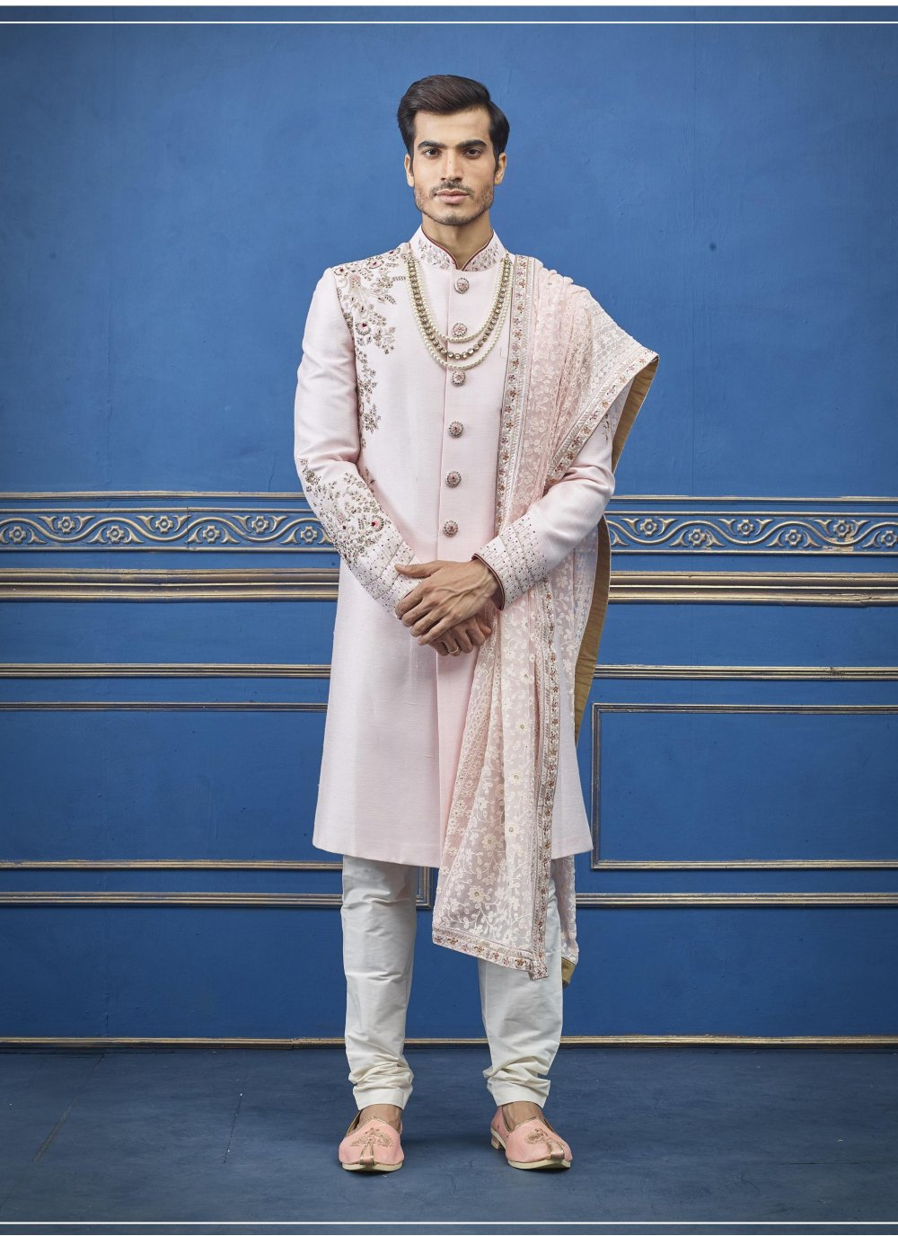 Pink Color Sherwani