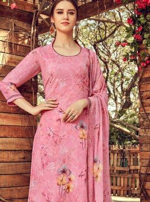 Pink Color Trendy Palazzo Salwar Kameez