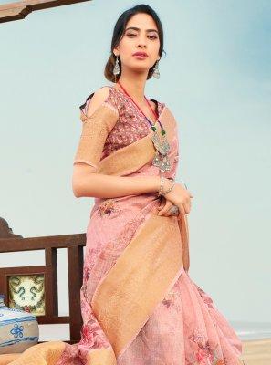 Pink Color Trendy Saree
