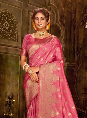 Pink Contemporary Saree
