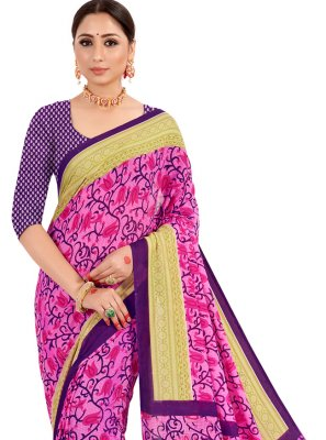 Pink Contemporary Style Saree