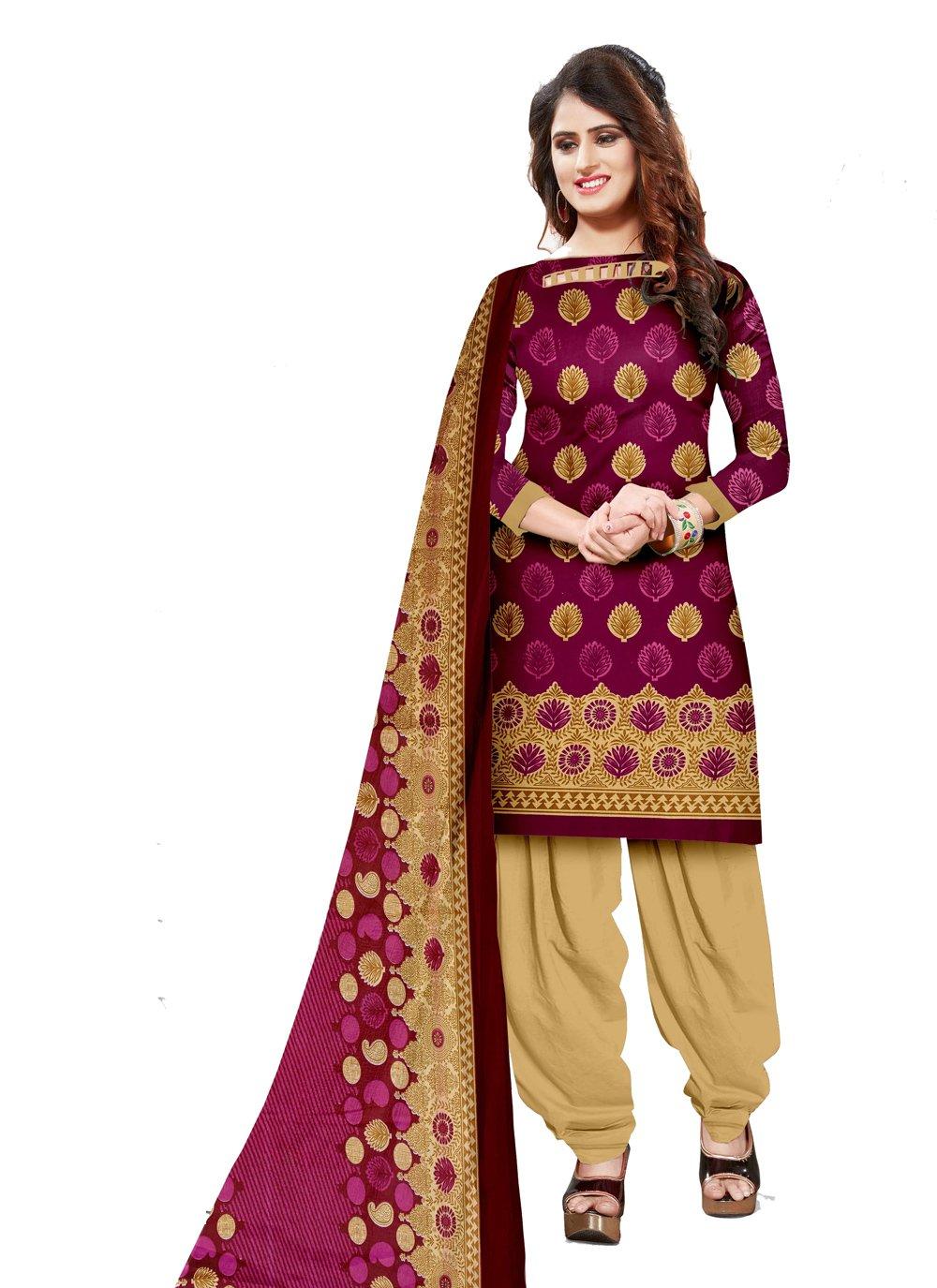 Pink Cotton Engagement Salwar Suit