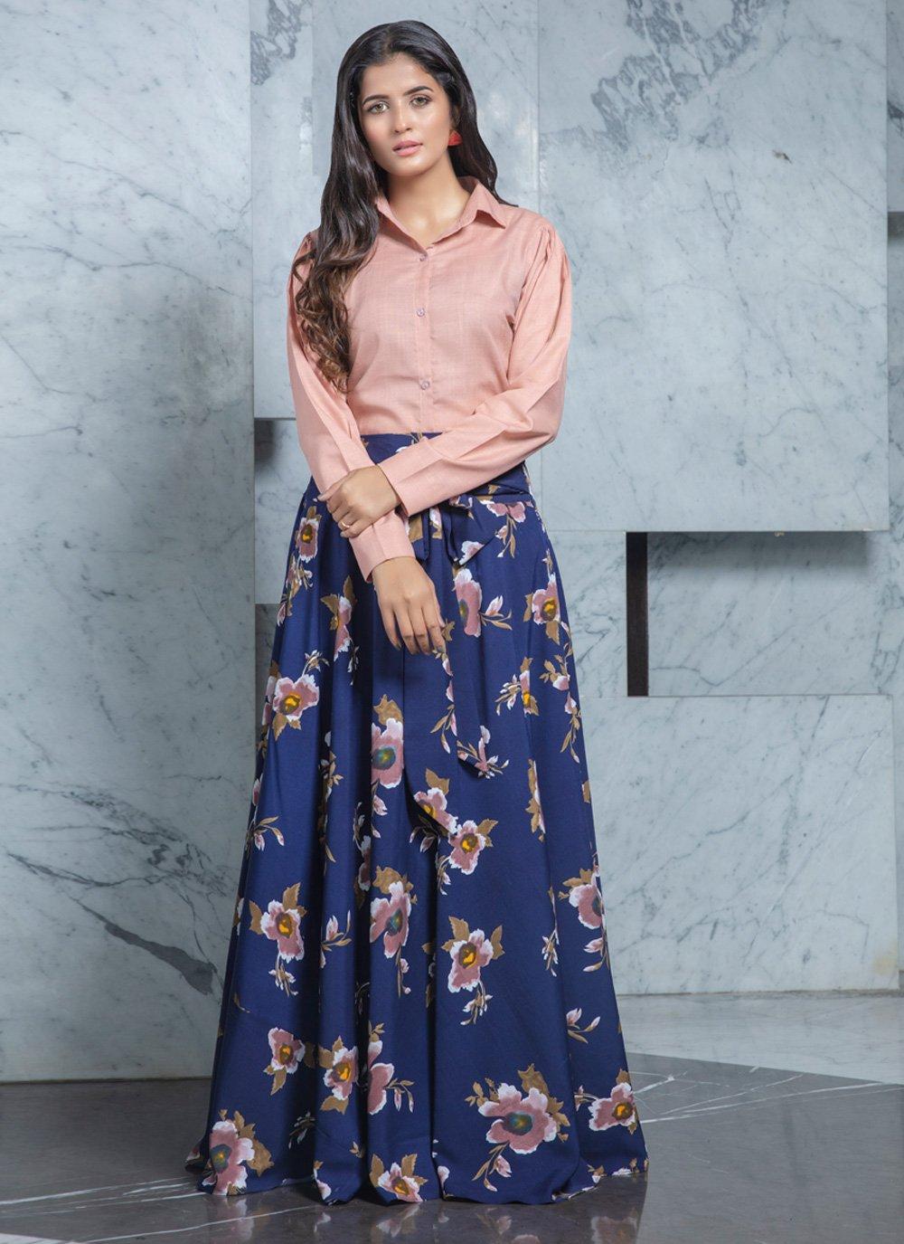 Pink Cotton Printed Designer Lehenga Choli