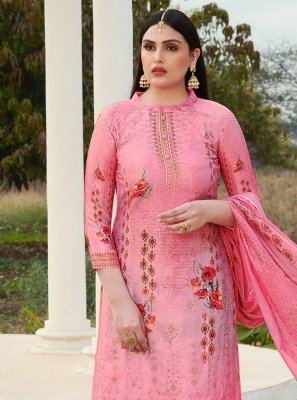 Pink Cotton Silk Salwar Suit