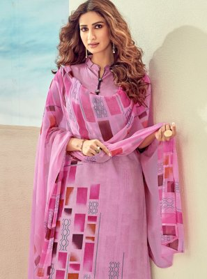 Pink Cotton Trendy Salwar Suit