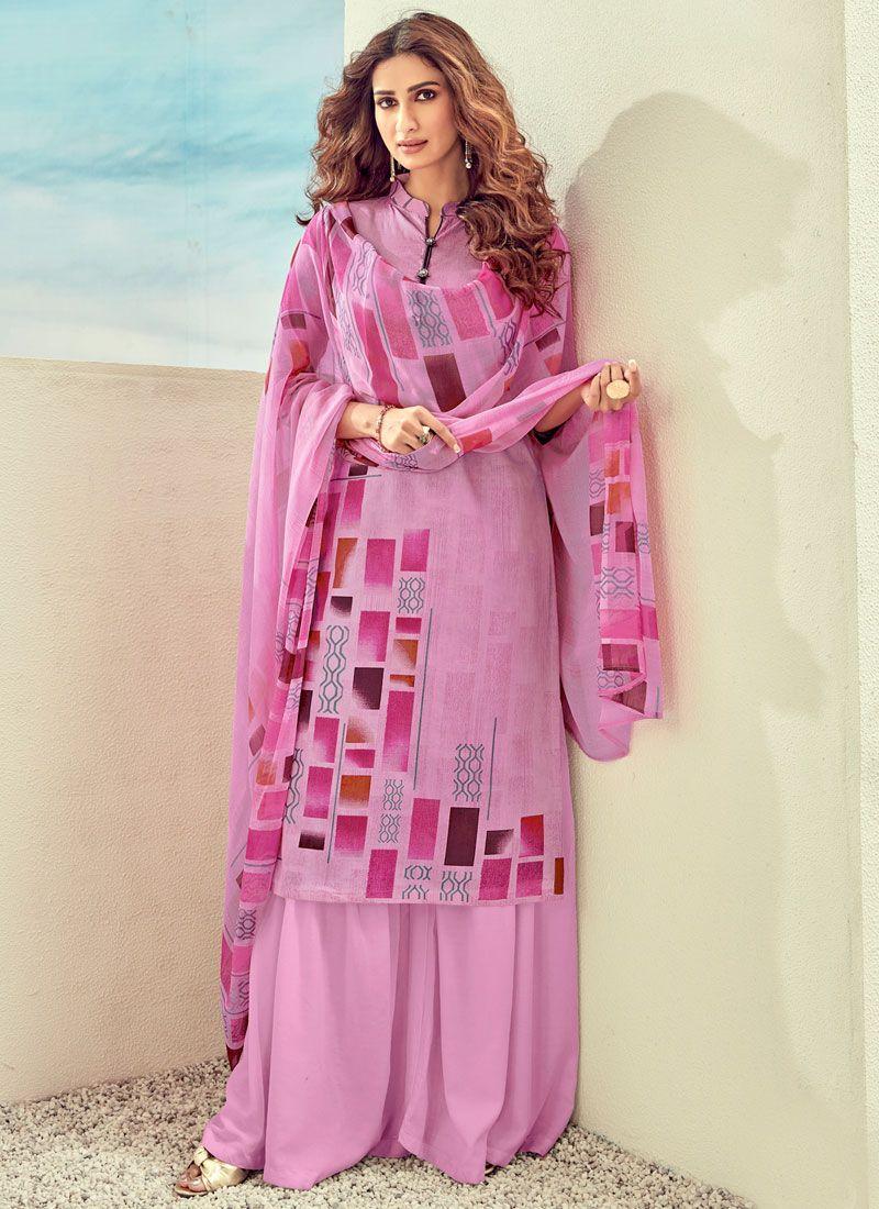 Pink Cotton Trendy Salwar Suit