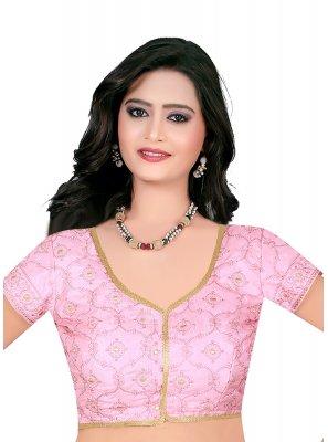 Pink Embroidered Designer Blouse