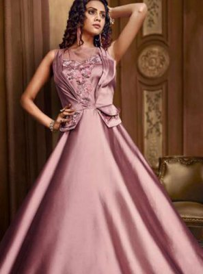 Pink Embroidered Designer Gown