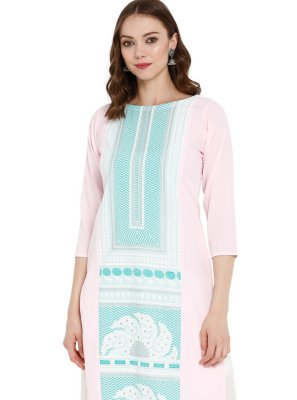 Pink Engagement Party Wear Kurti