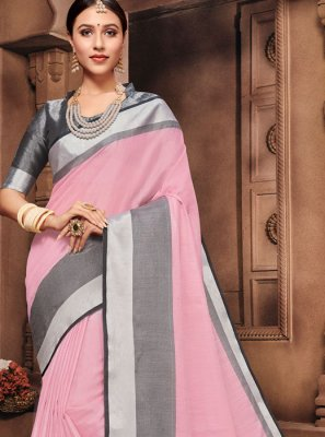 Pink Fancy Cotton Classic Saree