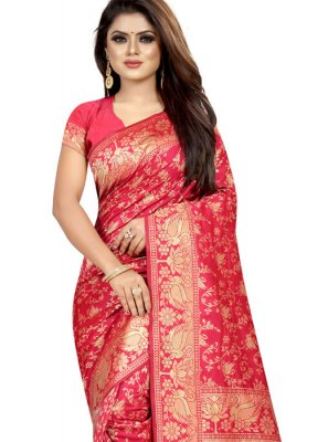 Pink Festival Art Silk Designer Traditional Saree