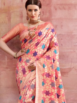 Pink Festival Casual Saree