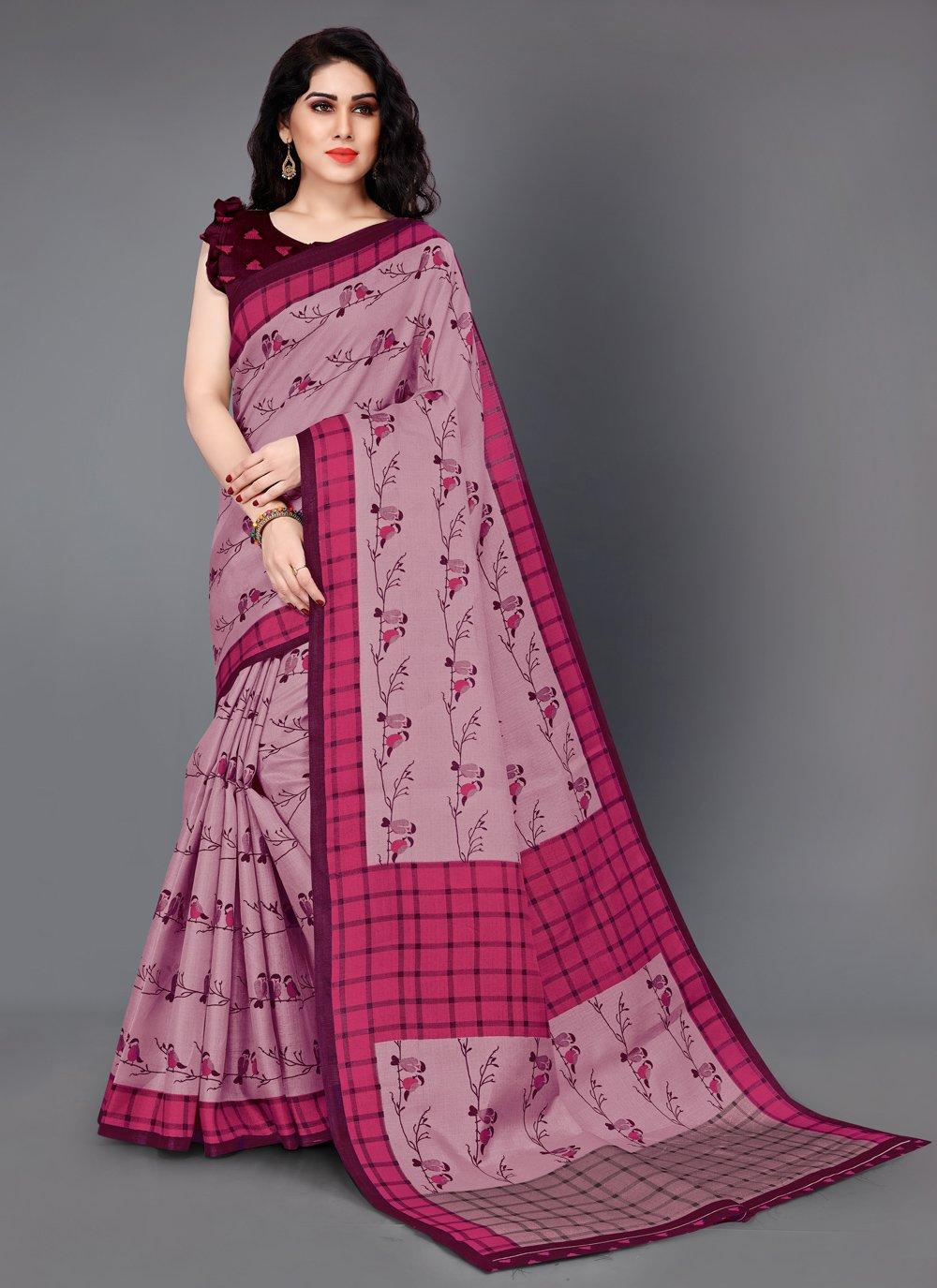Pink Festival Casual Saree