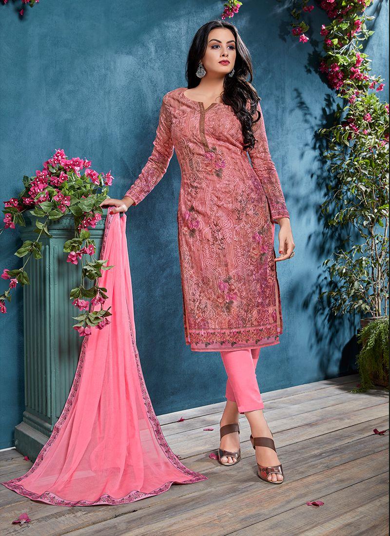 Pink Festival Churidar Designer Suit
