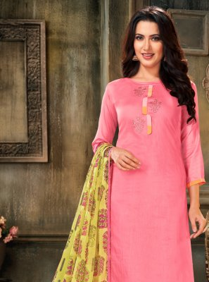 Pink Festival Cotton Bollywood Salwar Kameez
