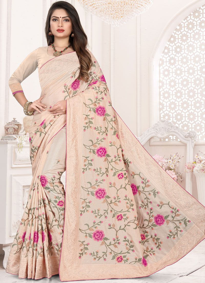 Pink Festival Designer Traditional Saree