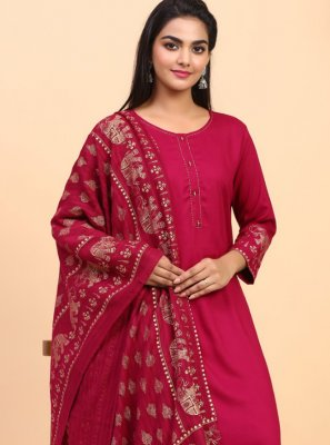 Pink Festival Palazzo Salwar Suit