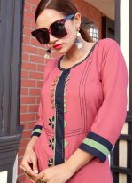 Pink Festival Party Wear Kurti