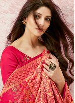 Pink Festival Silk Contemporary Saree