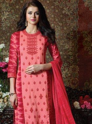 Pink Festival Straight Salwar Suit