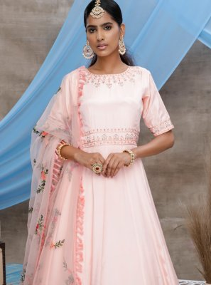 Pink Floor Length Gown