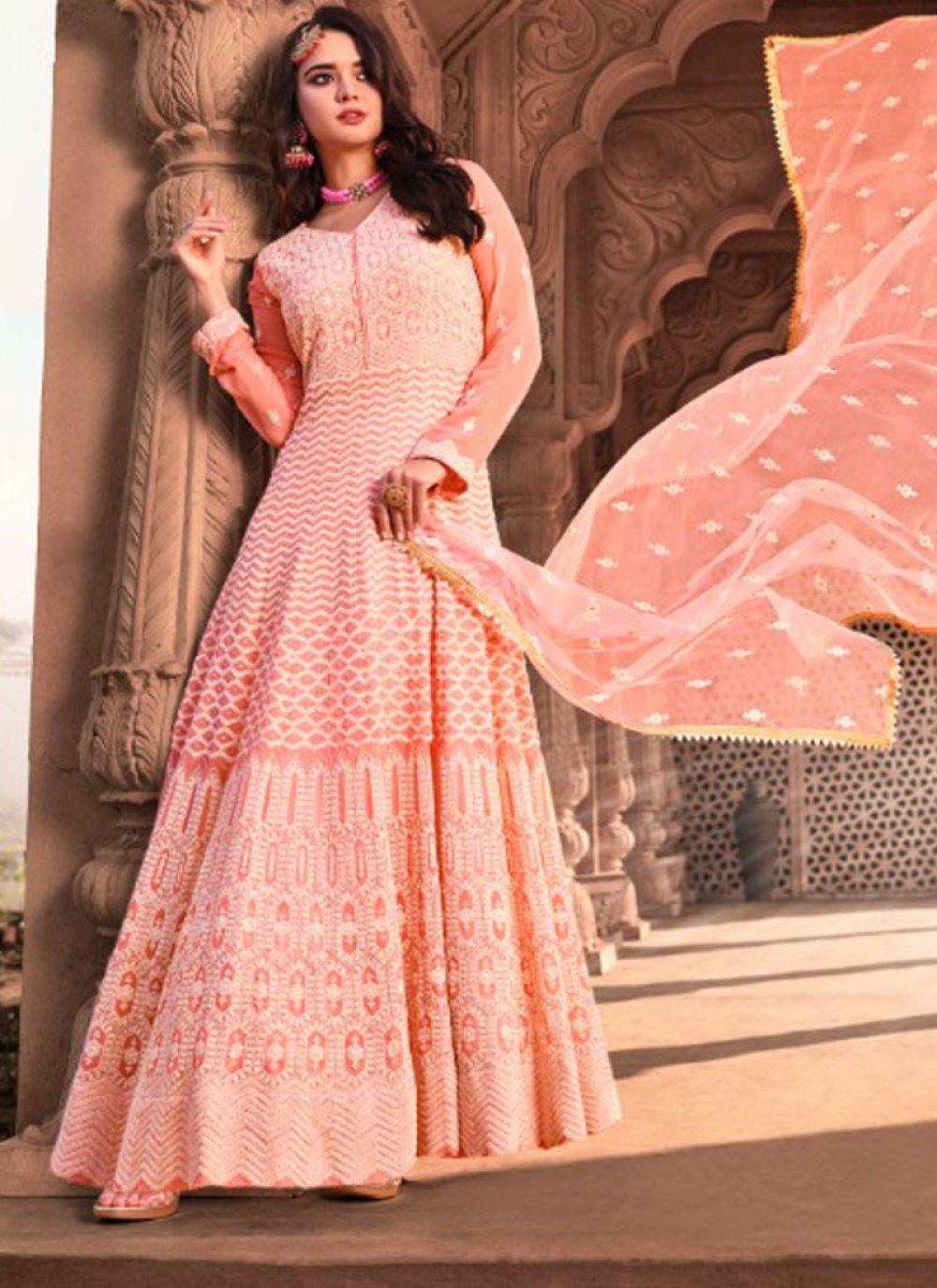 Pink Georgette Festival Designer Salwar Suit
