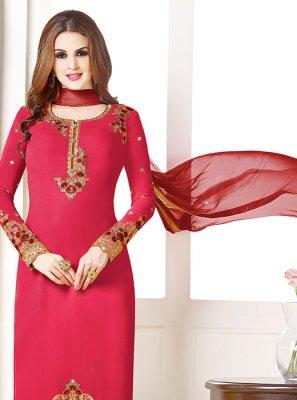 Pink Georgette Salwar Suit