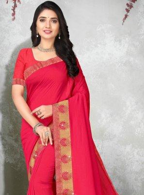 Pink Lace Bollywood Saree