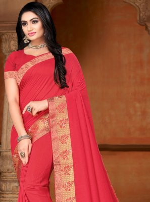 Pink Lace Contemporary Saree