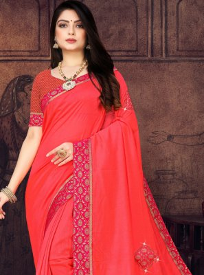 Pink Lace Party Casual Saree